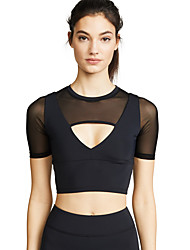 cheap -Women's Sports Bra Top Bra Top Patchwork Mesh Zumba Running Fitness Breathable Quick Dry Sweat-wicking Black Fashion / High Elasticity