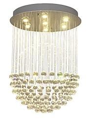 cheap -QIHengZhaoMing 7-Light Pendant Light Ambient Light Brass Crystal 110-120V / 220-240V Warm White Bulb Included / GU10