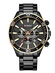 cheap -CURREN Men's Dress Watch Bracelet Watch Quartz Classic Water Resistant / Waterproof Black / White Analog - White Black Red / Stainless Steel / Calendar / date / day / Large Dial