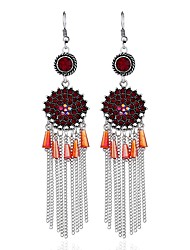 cheap -Women's Drop Earrings Long Ladies Asian Classic Lolita Gothic Fashion African Earrings Jewelry Red / Green / Blue For Gift Office & Career 1 Pair
