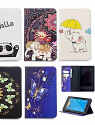 cheap -Phone Case For Amazon Full Body Case Kindle Fire 7(7th Generation, 2017 Release) Wallet Card Holder with Stand Elephant Hard PU Leather