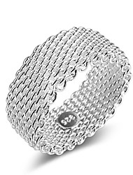 cheap -Ring Lasso Silver Silver-Plated Ladies Stylish Classic 1pc 6 7 8 9 / Couple's