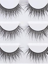 cheap -Eyelash Extensions False Eyelashes 6 pcs Professional Natural Curly Extra Long Fiber Event / Party Daily Wear Crisscross Thick Natural Long - Makeup Daily Makeup Halloween Makeup Party Makeup Trendy