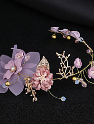 cheap -Women's Simple Korean Fabric Alloy Crystal Headbands Party Ceremony - Floral