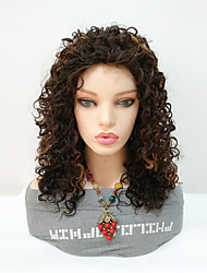 cheap -Synthetic Wig Curly Asymmetrical Wig Black / Blonde Medium Length Black / Dark Auburn Synthetic Hair Women's Women Highlighted / Balayage Hair For Black Women Black / Blonde