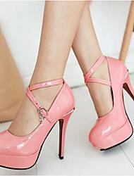 Недорогие -Жен. Обувь на каблуках На шпильке Полиуретан Удобная обувь Весна Белый / Черный / Розовый / Повседневные / EU36