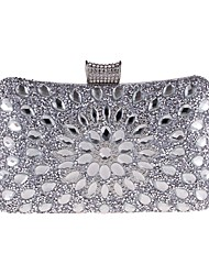 cheap -Women's Beading / Crystals Polyester Evening Bag Floral Print Gold / Blue / Silver