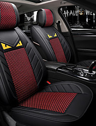 cheap -5 seats Black and red Cartoon Four Seasons General Car Seat Full Cover for five-seat car/Ice Silk material/Airbag compatibility/Adjustable and Removable/Family car/SUV