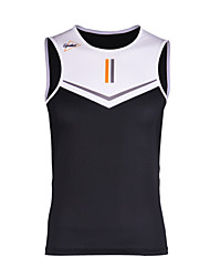 cheap -SPAKCT Men's Sleeveless Cycling Vest Black / White Solid Color Bike Vest / Gilet Moisture Wicking Quick Dry Sports Elastane Solid Color Mountain Bike MTB Road Bike Cycling Clothing Apparel