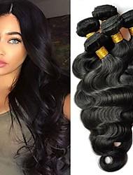 Недорогие -6 Связок Малазийские волосы Естественные кудри Натуральные волосы 300 g Удлинитель Пучок волос One Pack Solution 8-28 дюймовый Нейтральный Естественный цвет Ткет человеческих волос / Необработанные
