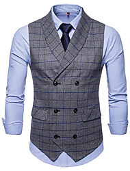 cheap -Cotton / Polester / Cotton Blend Business / Daily Wear Work / Casual Plaid / Classic / Vintage