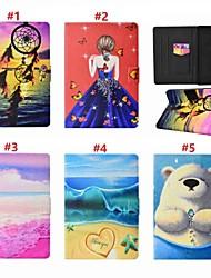 cheap -Case For Apple iPad Mini 3/2/1 / iPad Mini 4 / iPad (2018) Card Holder / with Stand / Auto Sleep / Wake Up Full Body Cases Sexy Lady / Animal / Dream Catcher Hard PU Leather