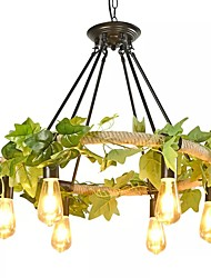 cheap -QIHengZhaoMing 6-Light Hemp Rope Chandelier Ambient Light Painted Finishes Metal 110-120V / 220-240V Warm White Bulb Included / Bulb Not Included