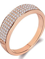 cheap -Women's Ring Knuckle Ring 1pc Rose Gold Silver Brass Platinum Plated Rose Gold Plated Ladies Simple Hyperbole Wedding Gift Jewelry Stylish Star Gypsophila Cool / Imitation Diamond