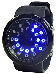 cheap -Men's Sport Watch Digital Watch Quartz Silicone Black Calendar / date / day Noctilucent Digital Fashion - Black