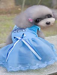 cheap -Dogs Cats Pets Dress Dog Clothes Blue Pink Costume Husky Labrador Alaskan Malamute Cotton Jacquard Cotton Heart Princess Sports & Outdoors Dresses&Skirts XS S M L XL XXL