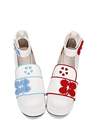 cheap -Women's Lolita Shoes Princess Lolita Shoes Embroidered 8 cm Blue Red PU(Polyurethane) Halloween Costumes