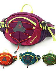 cheap -8 L Hiking Waist Bag Multifunctional Rain Waterproof Anti-tear Wear Resistance Outdoor Travel Fitness Jogging Nylon Purple Green Blue