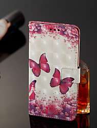 cheap -Case For Samsung Galaxy J8 / J7 Duo / J2 PRO 2018 Wallet / Card Holder / Flip Full Body Cases Butterfly Hard PU Leather