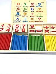 Недорогие -Игрушка для обучения чтению Числа Для школы Дерево / Бамбук Детские Мальчики Девочки Игрушки Подарок 2 pcs