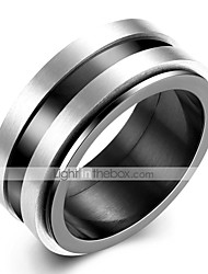 cheap -Men's Band Ring Groove Rings 1pc Silver Tungsten Steel Steel Stainless Circle Unique Design Vintage Initial Daily Work Jewelry Vintage Style Creative Cool