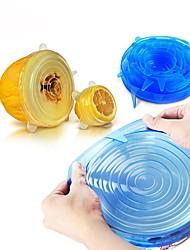 Недорогие -Универсальная силиконовая пищевая упаковка крышка-чаша силиконовая крышка кастрюля кухня вакуумная крышка герметик