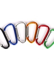 cheap -Carabiners Easy to Carry Lightweight Easy to Use Steel Stainless Climbing Rainbow 5 pcs