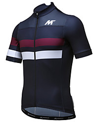 cheap -Mysenlan Men's Short Sleeve Cycling Jersey Black Bike Jersey Top Mountain Bike MTB Road Bike Cycling Breathable Quick Dry Sports Polyester Clothing Apparel / Expert / Expert / Breathable Armpits