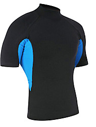 cheap -SBART Men's SPF50 UV Sun Protection Quick Dry Short Sleeve Swimming Diving Surfing Spring Summer Fall