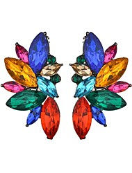 cheap -Women's Stud Earrings Chandelier Rainbow Mood Ladies Trendy Color Earrings Jewelry White / Rainbow For Masquerade Holiday 1 Pair