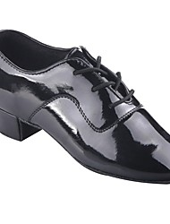 cheap -Boys' Dance Shoes Patent Leather Latin Shoes Heel Thick Heel Black / Performance / Practice