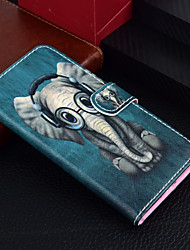 cheap -Case For Apple iPhone 12 / iPhone 12 Mini / iPhone 12 Pro Max Wallet / Card Holder / with Stand Full Body Cases Animal / Elephant Hard PU Leather