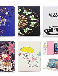 cheap -Case For Apple iPad Mini 5 / iPad New Air(2019) / iPad (2018) Wallet / Card Holder / with Stand Full Body Cases Animal / Elephant Hard PU Leather