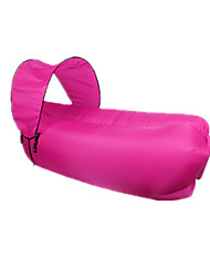 cheap -Air Bed Outdoor Waterproof Portable Ultraviolet Resistant Foldable 210D Nylon 250*70*50 cm Beach Camping Traveling All Seasons Fuchsia