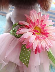cheap -Dogs Cats Pets Dress Dog Clothes Pink Costume Husky Labrador Alaskan Malamute Cotton Jacquard Cotton Flower / Floral Flower Sports & Outdoors Dresses&Skirts S M L XL XXL