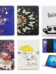 Недорогие -Кейс для Назначение SSamsung Galaxy Tab S2 9.7 Кошелек / Бумажник для карт / со стендом Чехол Слон Твердый Кожа PU