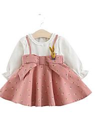 cheap -Baby Girls' Active Dusty Rose Print Long Sleeve Dress Blushing Pink