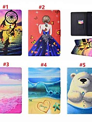 cheap -Case For Samsung Galaxy Tab A 10.1 (2016) Card Holder / with Stand / Auto Sleep / Wake Up Full Body Cases Sexy Lady / Animal / Dream Catcher Hard PU Leather