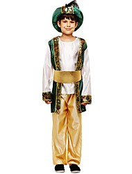 cheap -Cosplay Costume Teen Boys' Halloween Halloween Carnival Children's Day Festival / Holiday Polyster Dark Green Carnival Costumes Solid Colored Halloween
