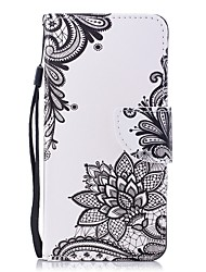 cheap -Case For Huawei Honor 7X Wallet / Card Holder / Flip Full Body Cases Flower Hard PU Leather