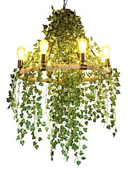 cheap -QIHengZhaoMing 8-Light Hemp Rope Chandelier Ambient Light Painted Finishes Metal 110-120V / 220-240V Warm White Bulb Included / Bulb Not Included