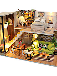 cheap -Dollhouse Miniature Room Accessories Creative LED Light DIY Furniture Wooden Modern Style Kid's Boys' Girls' Toy Gift / Parent-Child Interaction