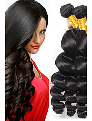 cheap -4 Bundles Indian Hair Wavy Human Hair Natural Color Hair Weaves / Hair Bulk Hair Care One Pack Solution 8-28 inch Natural Color Human Hair Weaves Waterfall Hot Sale 100% Virgin Human Hair Extensions
