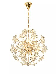 cheap -QIHengZhaoMing 10-Light 58 cm Chandelier Metal Brass Modern 110-120V / 220-240V