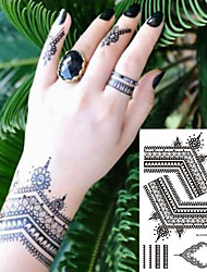 cheap -decal-style-temporary-tattoos-hand-temporary-tattoos-2-pcs-totem-series-romantic-series-smooth-sticker-safety-body-arts-sports-outdoor-party-evening