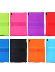cheap -Case For Lenovo Lenovo Tab 4 10 Plus / Lenovo Tab 4 10 Shockproof / with Stand Back Cover Solid Colored Soft Silicone