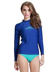 cheap -SBART Women's Rash Guard Spandex Sun Shirt Swim Shirt SPF50 UV Sun Protection Quick Dry Long Sleeve Diving Surfing Water Sports Classic Summer / Stretchy