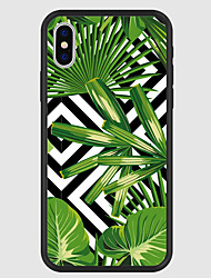 cheap -Case For Apple iPhone X / iPhone 8 Plus / iPhone 8 Pattern Back Cover Plants Hard Acrylic