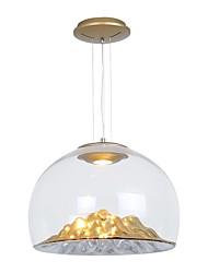 Недорогие -QIHengZhaoMing 36 cm Подвесные лампы Металл Стекло перевернутый Электропокрытие Modern 110-120Вольт / 220-240Вольт