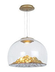 cheap -1-Light 36 cm Pendant Light Metal Glass Inverted Electroplated Modern 110-120V / 220-240V